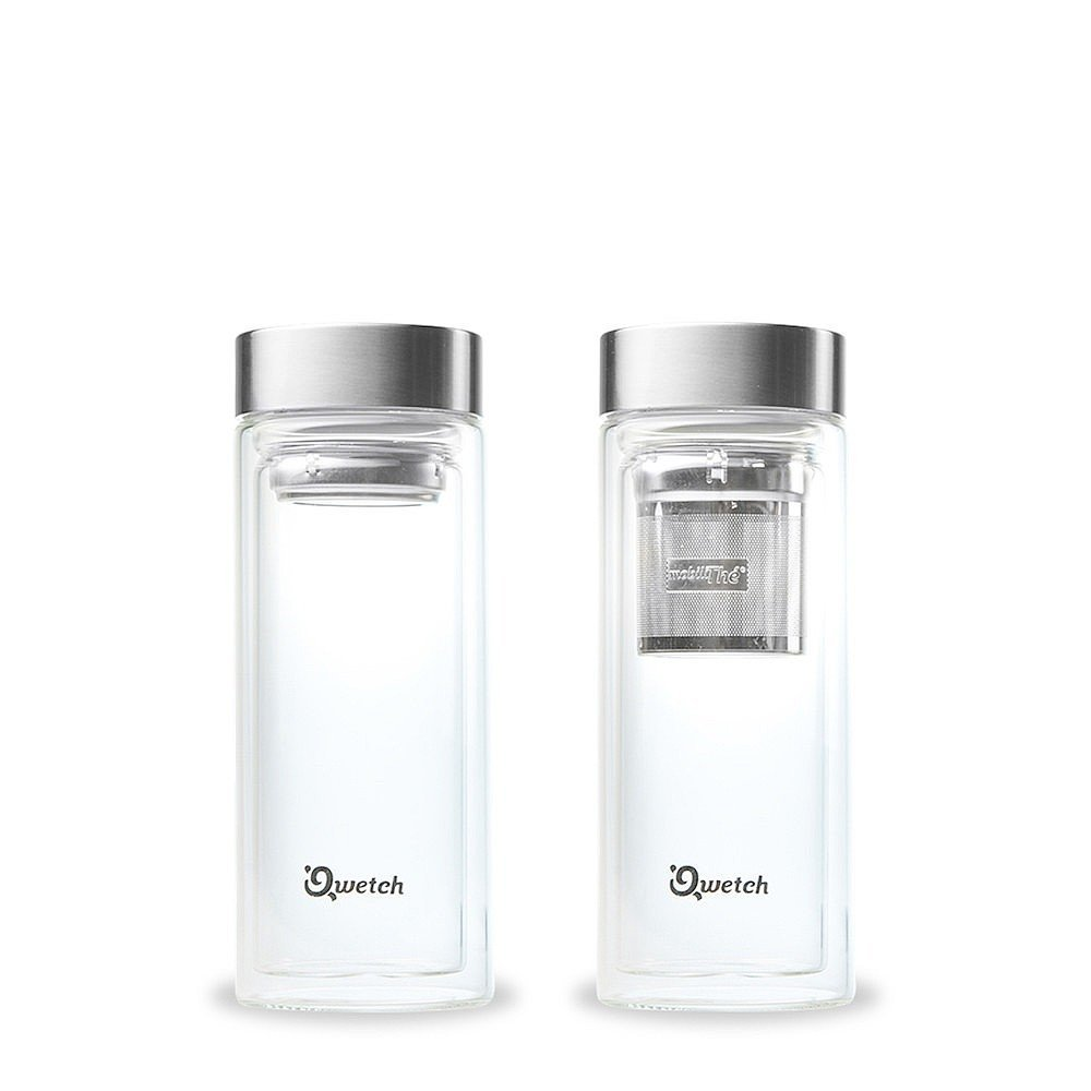 Glass Water Bottle with Tea Infuser 320ml