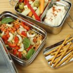 Stainless Steel Lunch Box Two Tier Food Example