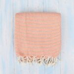 orange cosy weave turkish towel ebb flow cornwall