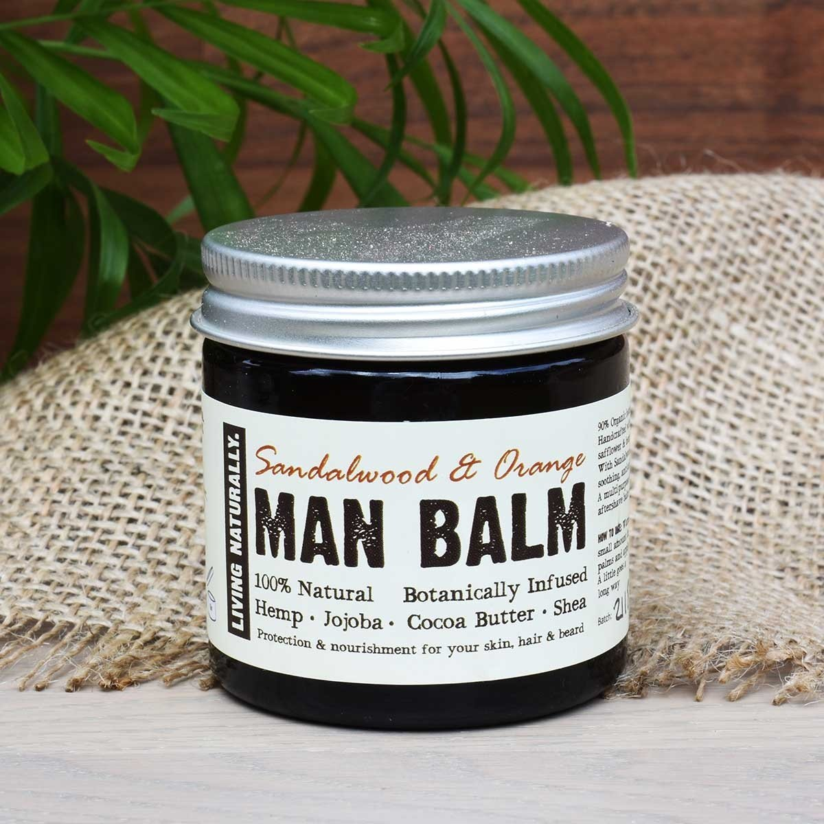 sandalwood and orange man balm moisturiser