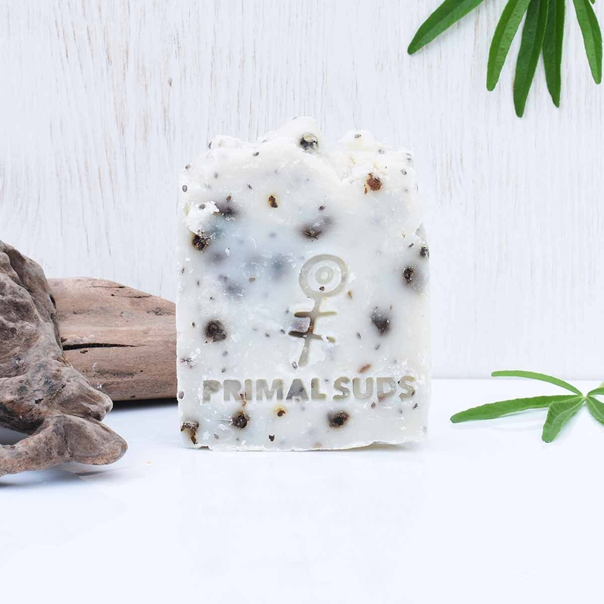 vegan soap bar soul primal suds background 1