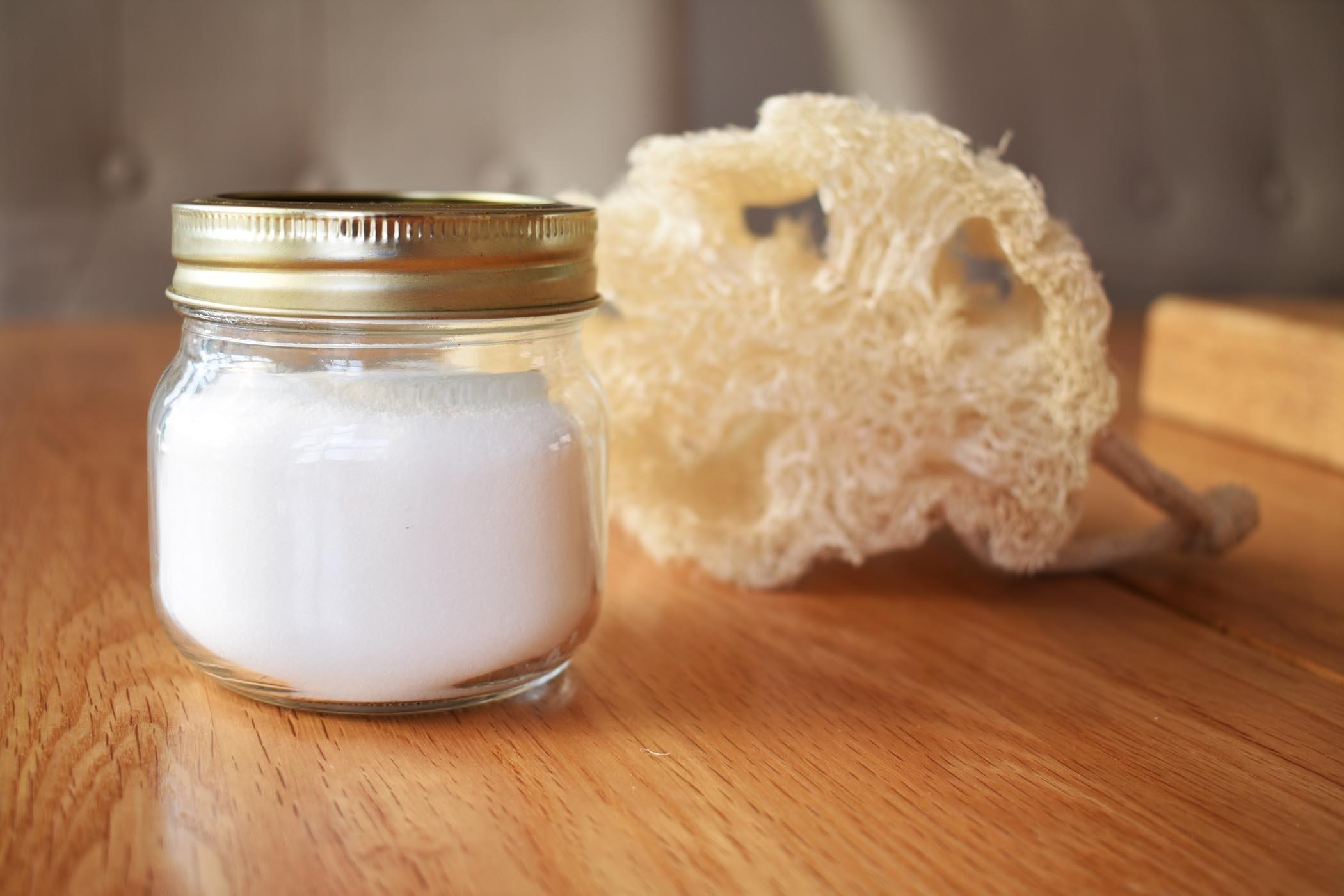 bicarbonate soda loofah