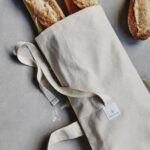 reusable baguette bag with bread