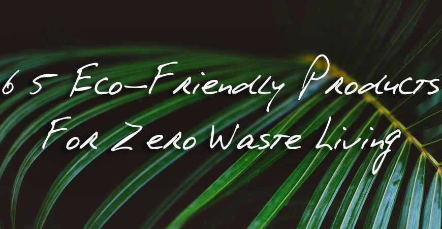 65 eco friendly products blog banner