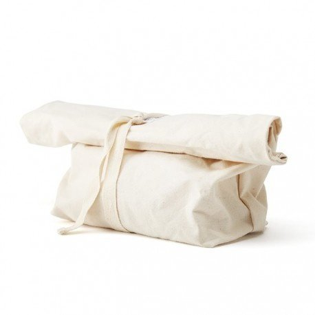 reusable bread bag rolled up
