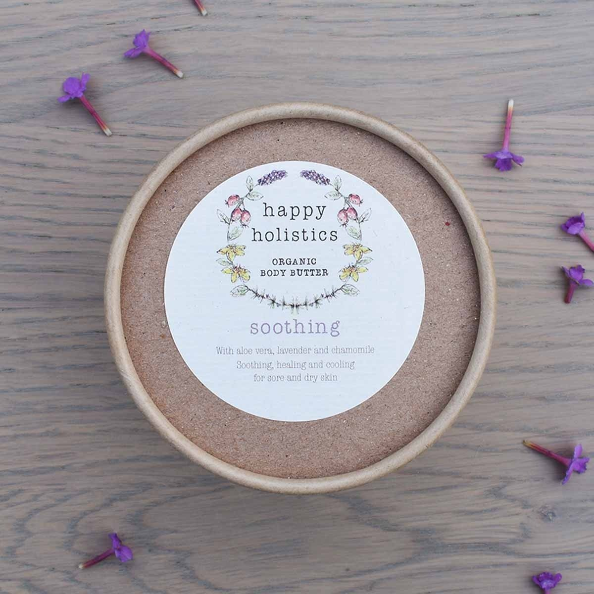 organic body butter soothing happy holistics 200g 1