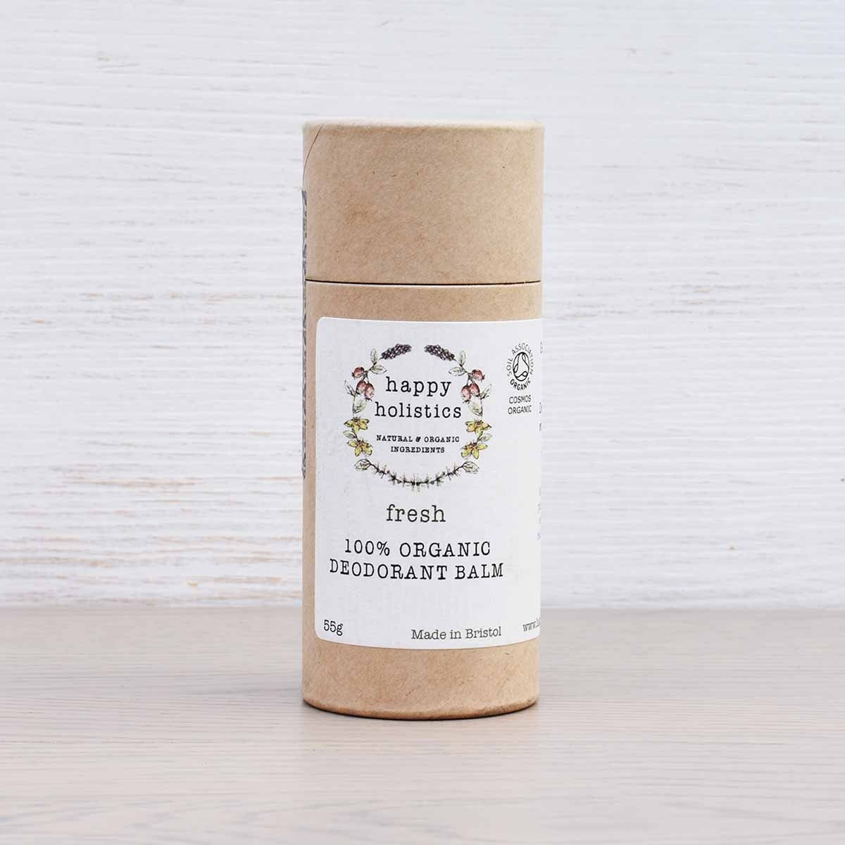 organic natural deodorant fresh happy holistics 55g