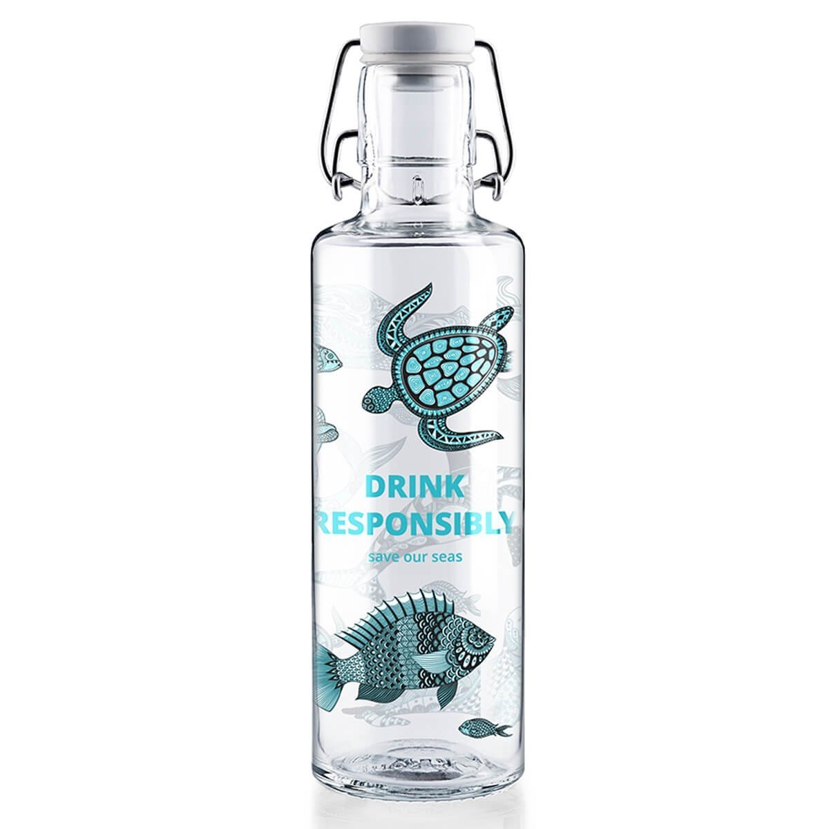 glass drinking bottle soul save our seas 0.6l