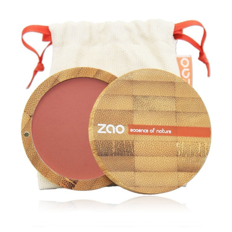 zao bamboo compact blush brown pink 322