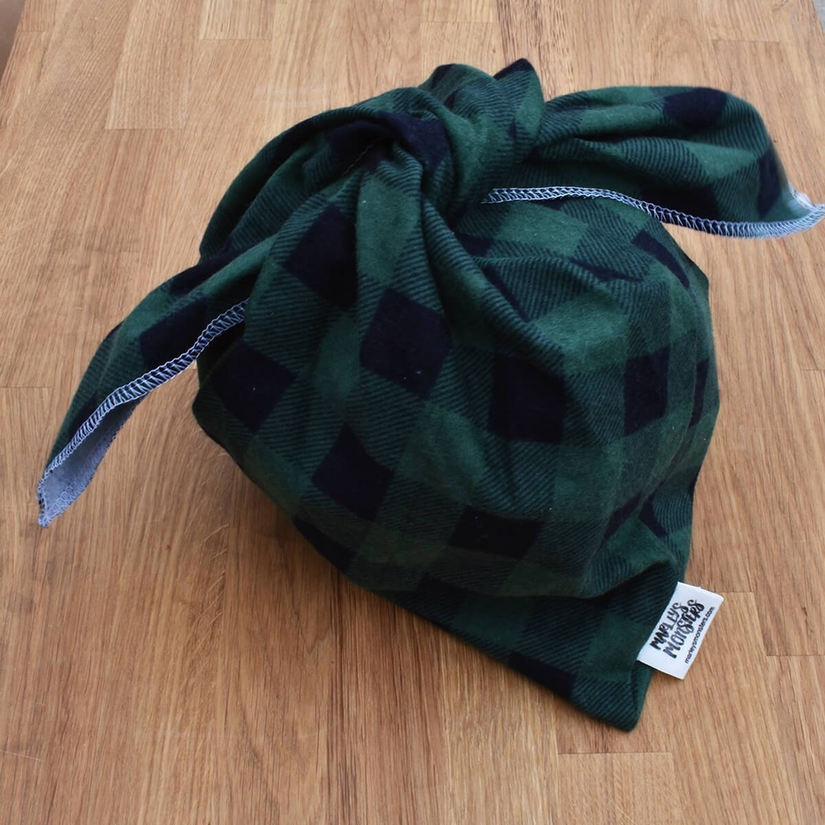 large bento bag green tartan marleys monsters
