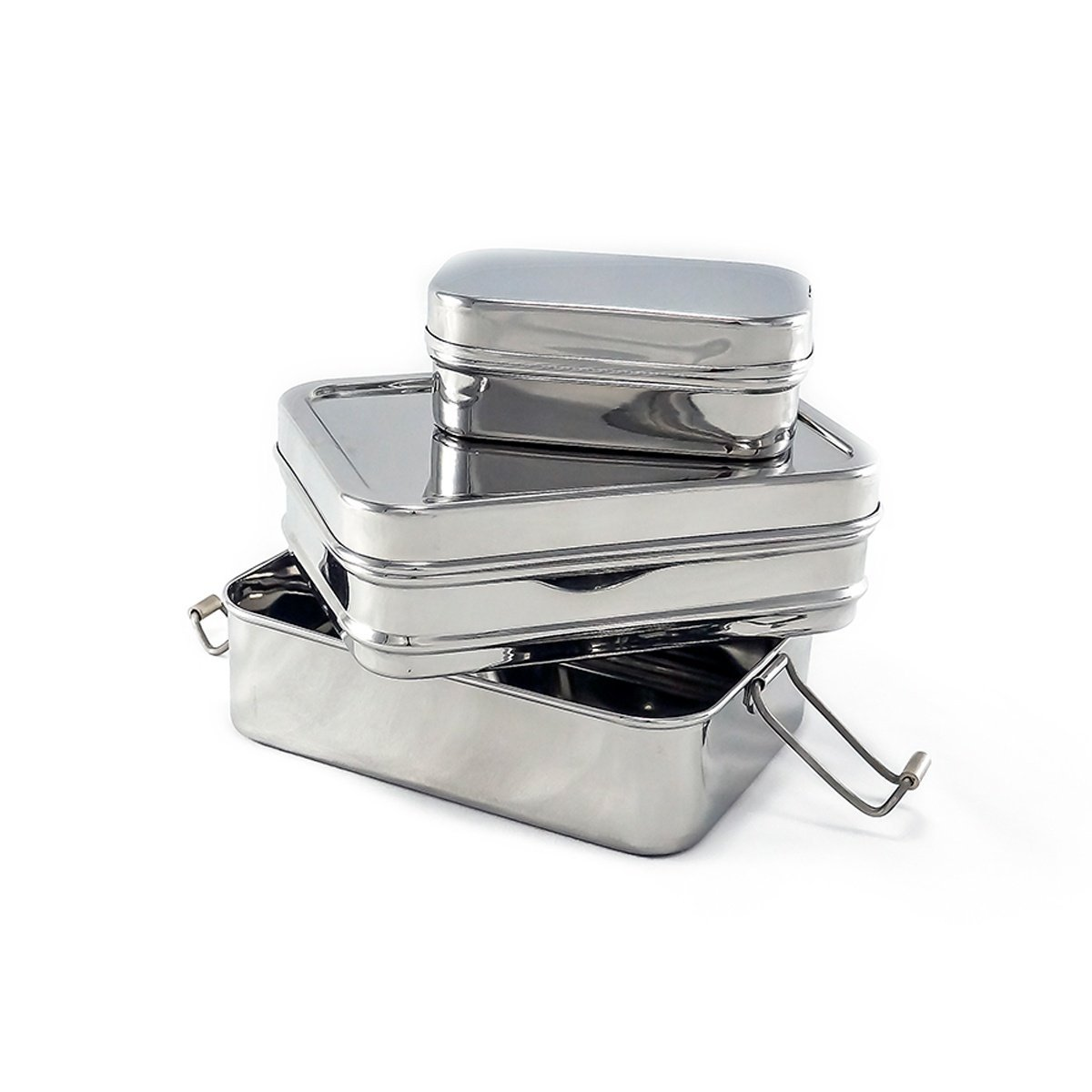 2 tier rectangle stainless steel my clever box