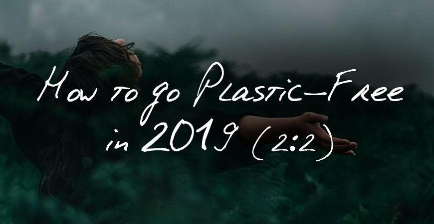 How To Go Plastic Free In 2019 header banner