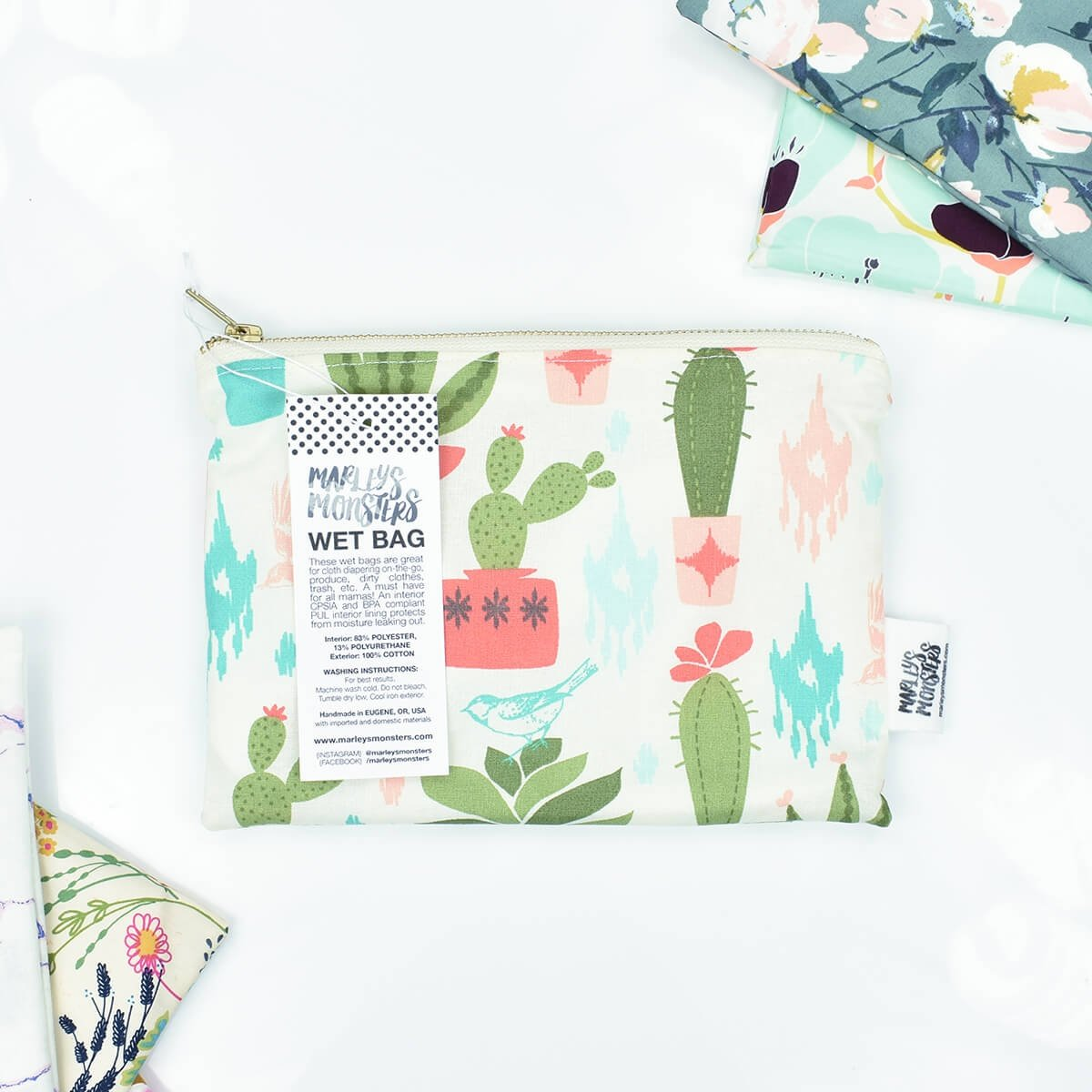 toiletry bags marleys monsters cactus collection 1
