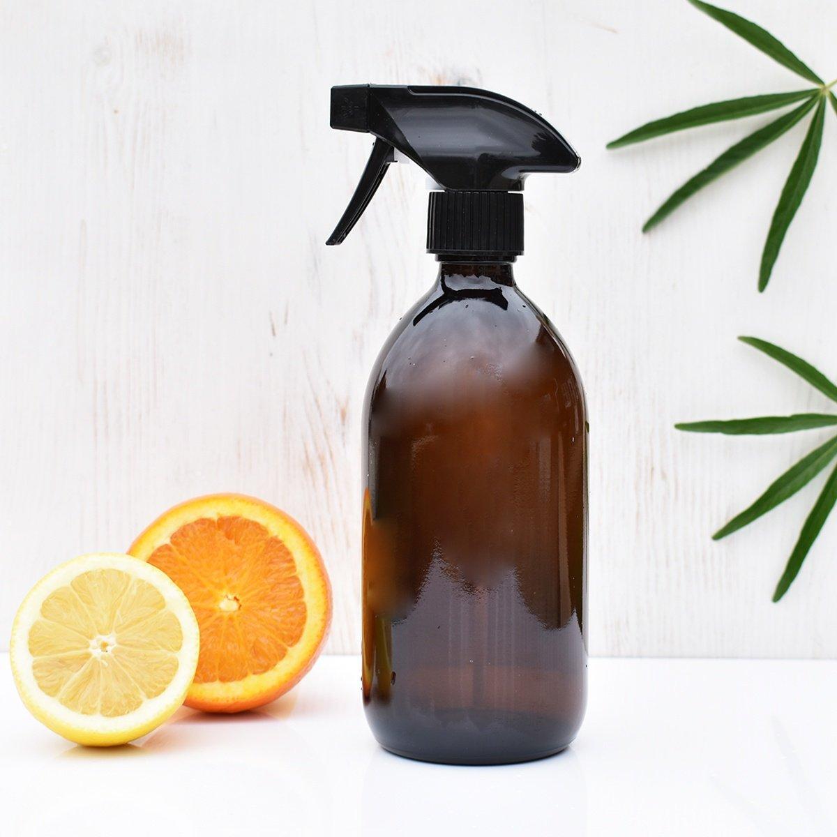 amber glass spray bottle 500ml