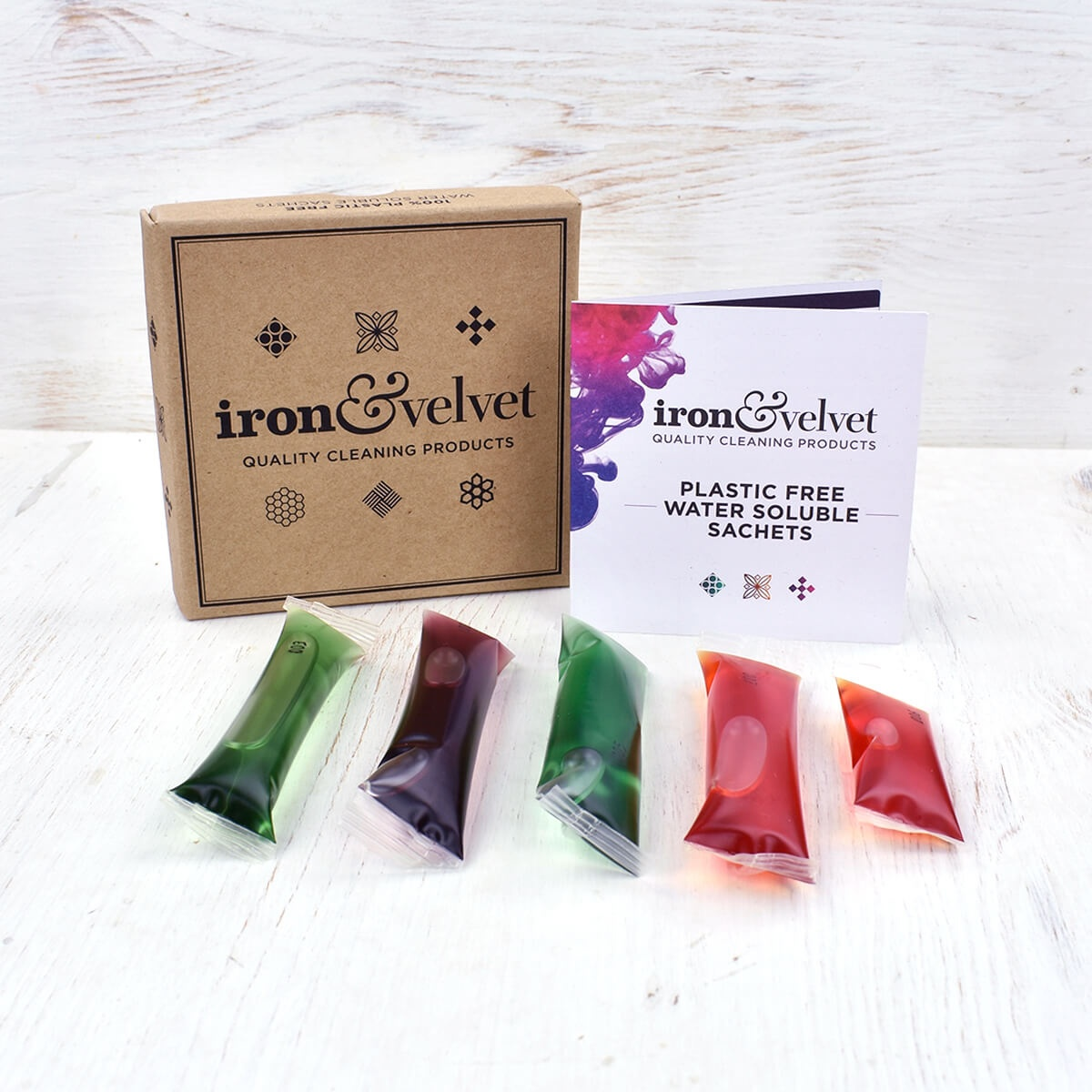 plastic free cleaning sachet box 1 iron velvet