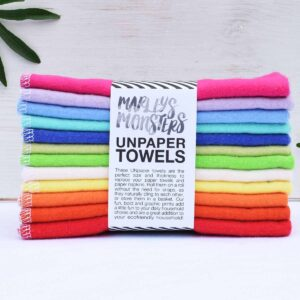 Marley's Monsters 12 Rainbow Unpaper Towels