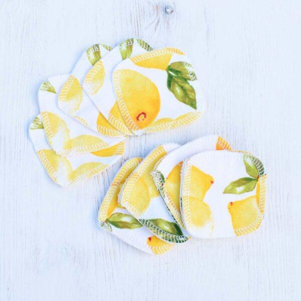 Marleys Monsters Lemon Print Cotton Facial Rounds