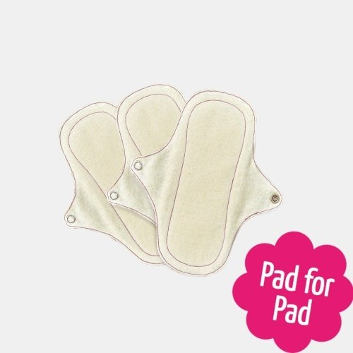 Eco-Femme Organic Cotton Panty Liners , Swirls 3 Pack , reverse side,