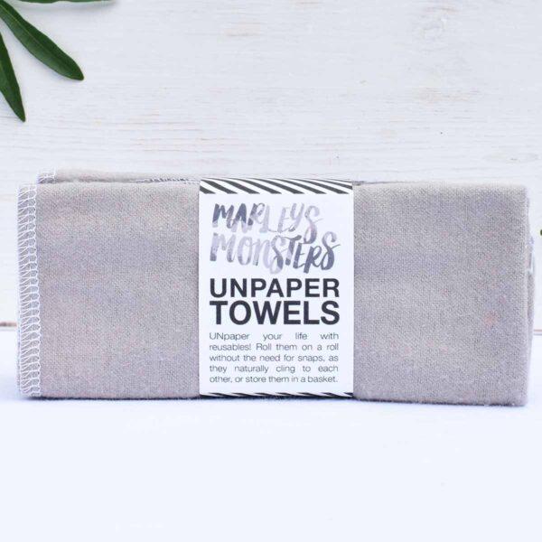 Marley's Monsters 6 Unpaper Towels Grey