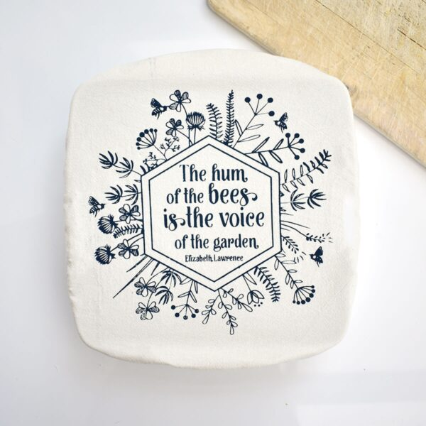 Your Green Kitchen Bee Print Cotton Casserole Dish Cover
