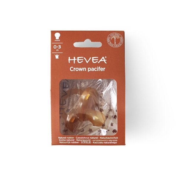 Hevea Crown Natural Rubber Pacifier In Box
