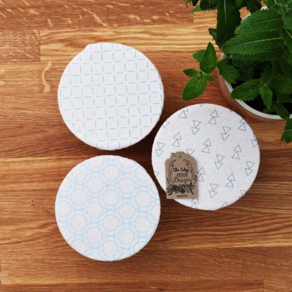 Your Green Kitchen Edgy Moose Mini Cotton Bowl Covers Geometric Print