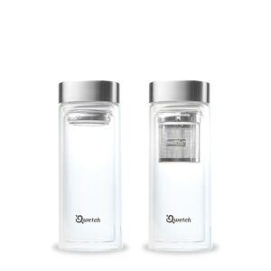 Qwetch Glass Water Bottle with Tea Infuser
