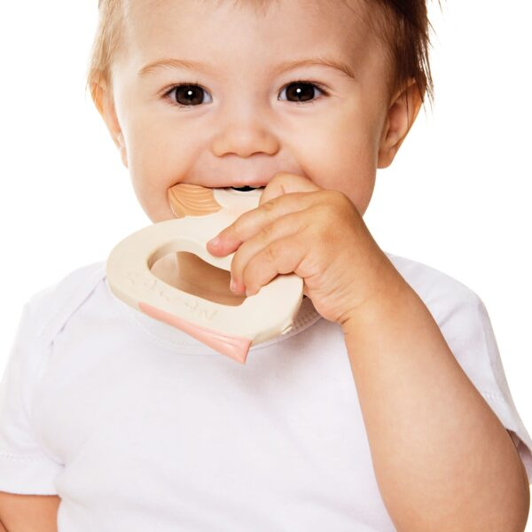Baby Using Hevea Natural Rubber Duck Teether