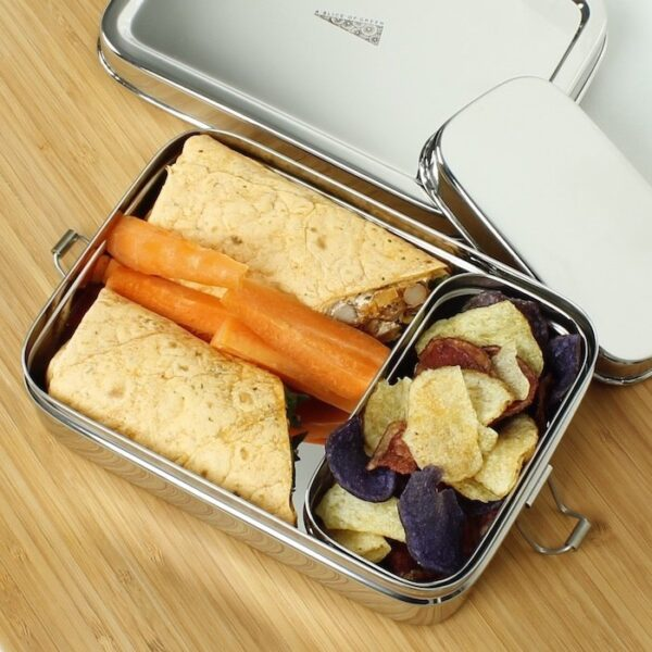 A Slice of Green Large Stainless Steel Lunch Box with Mini Container Inside
