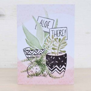 Stefanie Lau Eco-friendly Greetings Card Aloe There