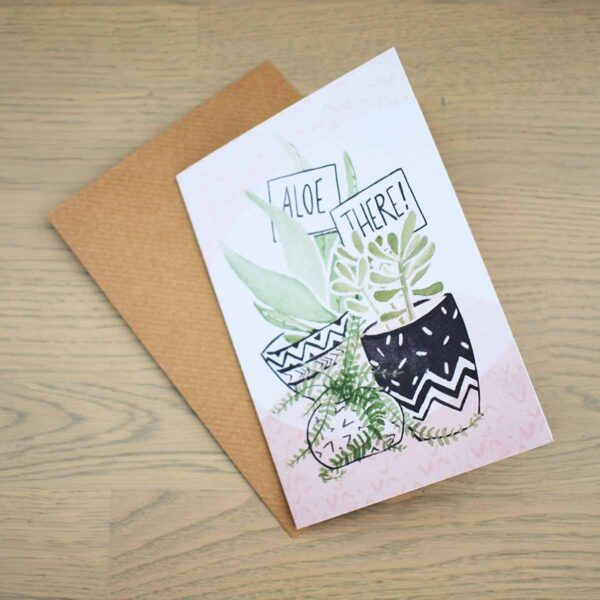Stefanie Lau Eco-friendly Greetings Card Aloe There With Envelope