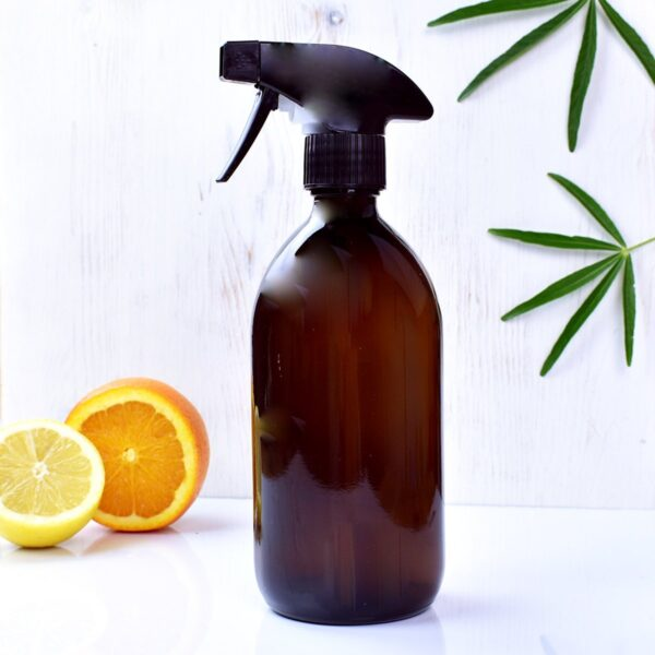 peace with the wild, pwtw, Amber Glass Spray Bottle, spray bottle, Reusable, eco-friendly, refillable,