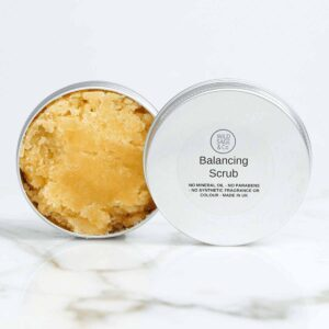 Wild Sage & Co Balancing Salt Scrub and Tin