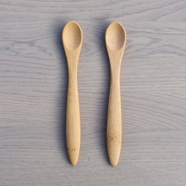 Bambu 2 Pack Bamboo Baby Feeding Spoons 6 Months+