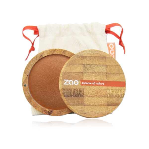 Zao Golden Bronze Mineral Cooked Powder Case And Bag