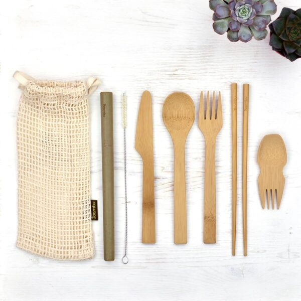 Bambu Complete Bamboo Eat & Drink Travel Utensil Kit