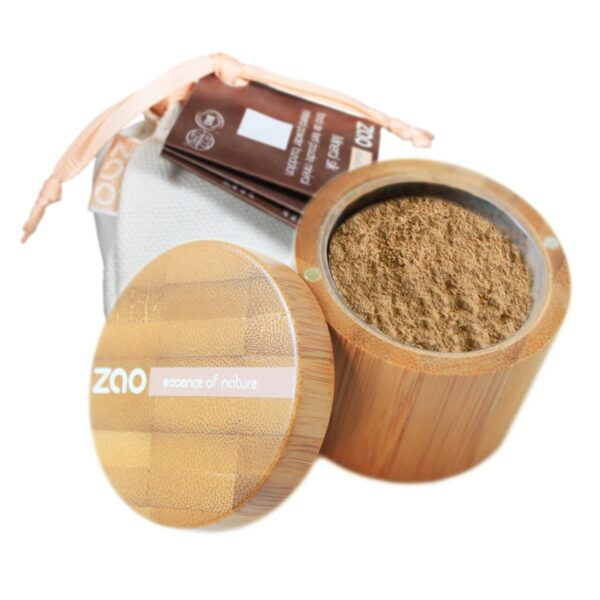 Zao Mineral Silk Foundation Powder And Travel Pouch
