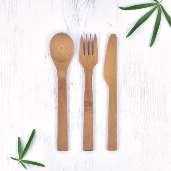 Bambu Bamboo Travel Cutlery Set