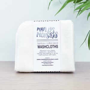 Marleys Monsters Bamboo Washcloths 4 Pack