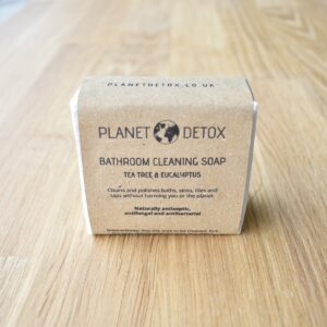 planet detox, Bathroom Cleaning Soap Bar, bathroom cleaner, soap bar, antibacterial, anti bacterial, bathroom, multi purpose cleaner, natural, plastic-free, handmade, bio-degradable, vegan-friendly,