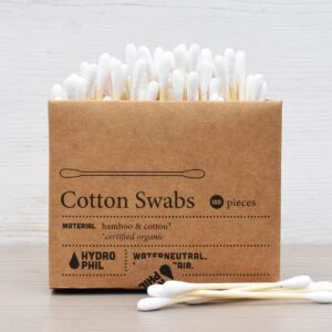 hydrophil , Bamboo Cotton Swabs , bamboo cotton bud, plastic-free, bio-degradable, vegan friendly, cotton buds,
