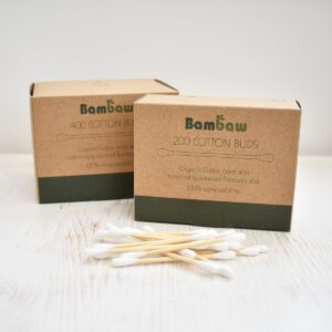 bambaw, Bamboo Cotton Buds, cotton buds, cotton swabs, plastic-free, bio-degradable, vegan friendly,