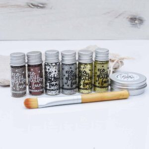 Eco Glitter Fun Metallic Eco Glitter Set With Brush, Bag And Gel