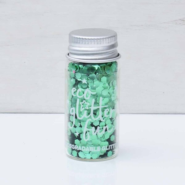 Eco Glitter Fun Chunky Verde Green Eco Glitter