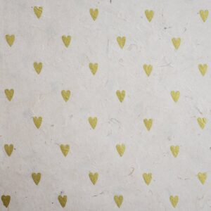 Happy Wrap Handmade Lokta Wrapping Paper Heart Print
