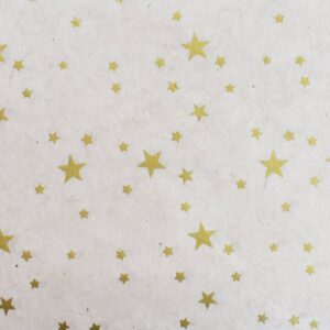 Happy Wrap Handmade Lokta Wrapping Paper Star Print