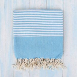 Ebb Flow Cornwall Blue Turkish Towel Quick Dry Hammam Towel