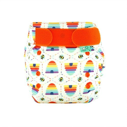 Totsbots Cloth Bumble Print Nappy All in 1 Easy Fit Star