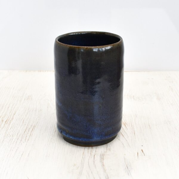 Clod and Pebble Blue Ceramic Toothbrush Holder
