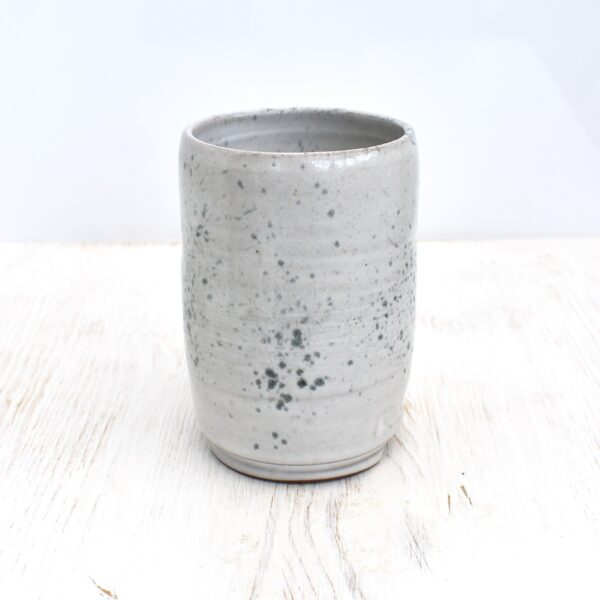 Clod and Pebble Grey Speckle Ceramic Toothbrush Holder
